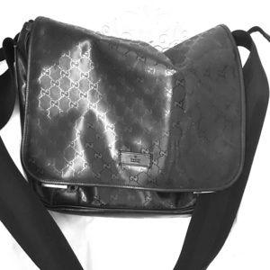 Gucci Diaper Bag Black Nylon w tags/authenticity